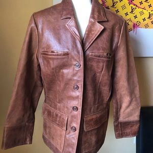 Mossimo Vintage WMN Distressed Leather Jacket